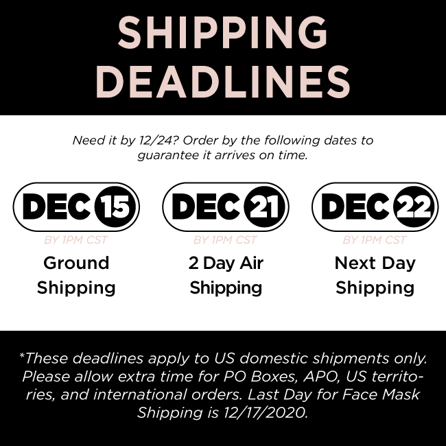 on the roam shipping deadlines 2020