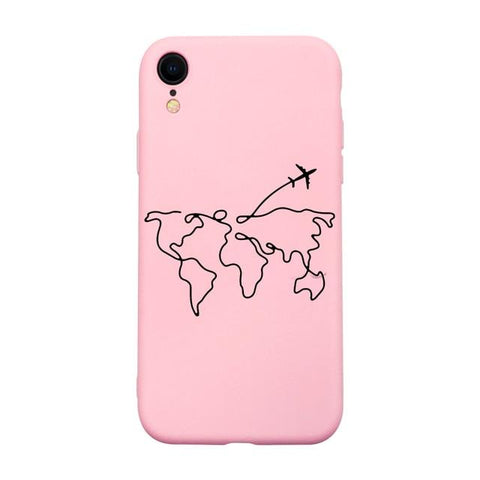 Coque Iphone 8 Plus Carte du Monde