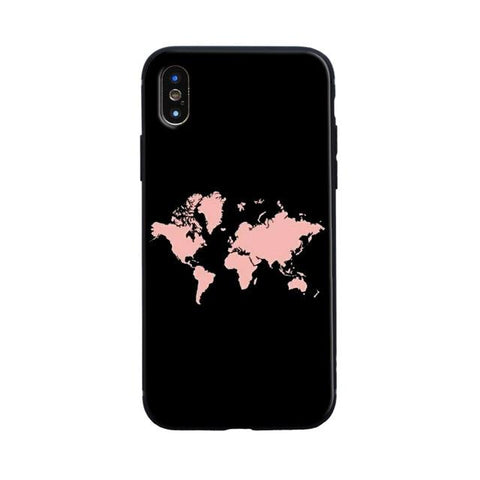 Coque Iphone Motif Carte du Monde