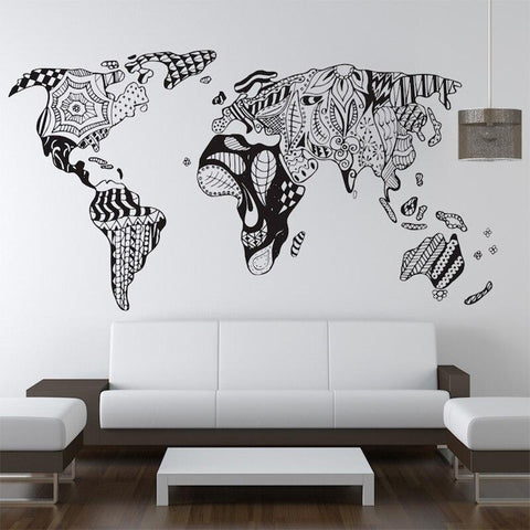 Stickers Mural Mappemonde Carte Monde