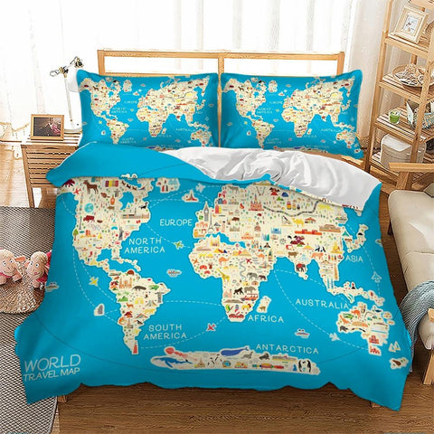 Housse de Couette World Map