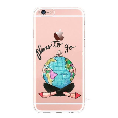 Coque Iphone 7 Transparente Carte du Monde
