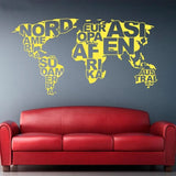 Stickers Continents Jaune