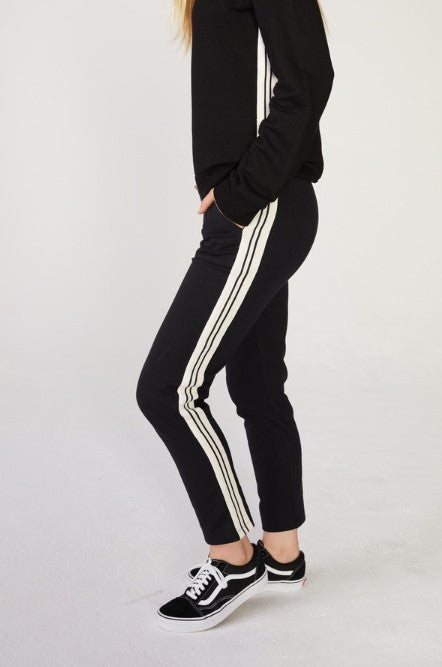 Patch Pocket Pants with Stripe Rib