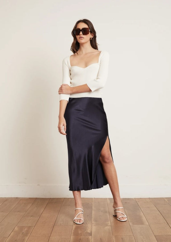 Paola Bias Midi Skirt
