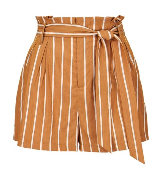 Striped Paperbag Shorts
