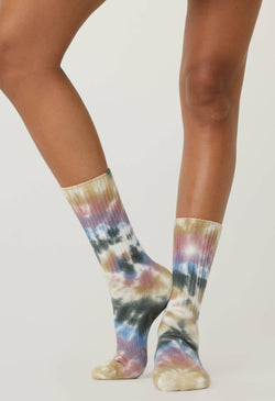 Autumn Tie Dye Socks