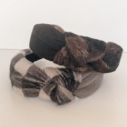 Plaid Knotted Headband