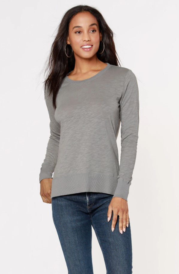 Rib Mix Crewneck Long Sleeve