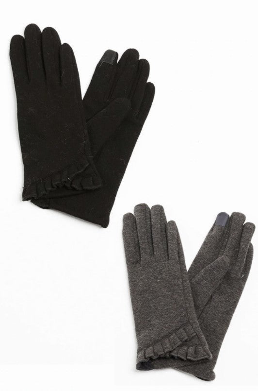 Ruffle Trim Gloves