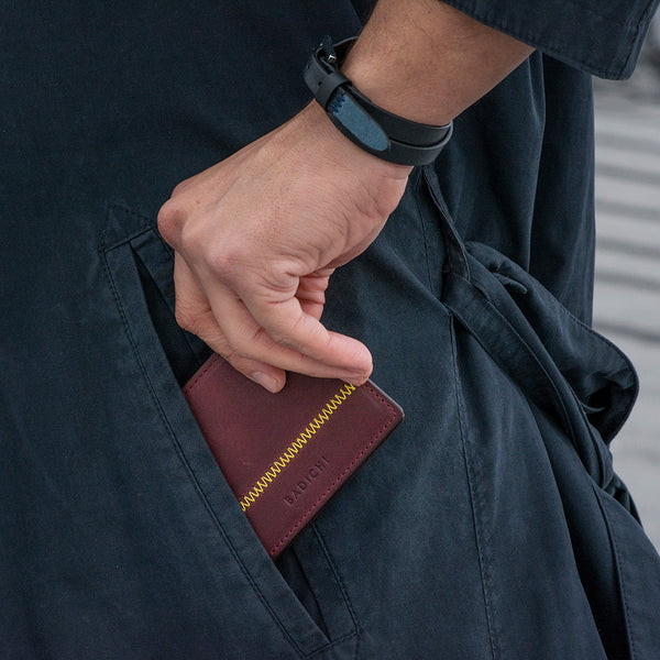Slim Billfold Wallet Burgundy