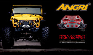 Topfire Mask Warrior Front Bumper for Wrangler JK/JKU