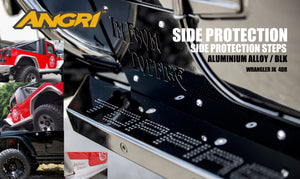 Topfire Side Protection and Steps for 4dr Wrangler JKU