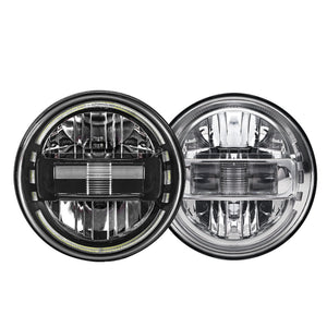 LED Headlights 'KONG JL-Style' with DRL for Wrangler JK/JKU/TJ (pair)