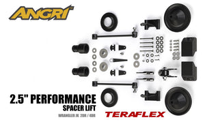 "JK/JKU 2.5"" Teraflex Performance Boost with Steering Stabiliser and Shock Extenders (FULLY FITTED)"