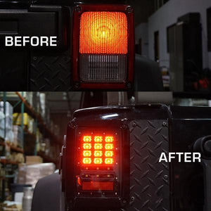 TAIL LIGHTS - CLEAR DOT LED replacement for Wrangler JK/JKU (pair)
