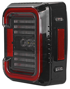 TAIL LIGHTS - CEE 'C' CLEAR SMOKE LED replacement for Wrangler JK/JKU (pair)