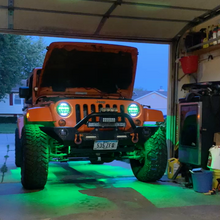 Load image into Gallery viewer, RGB 'SpidersEye' LED HEADLIGHTS with DRL & Remote for Wrangler JK/JKU/TJ (pair)