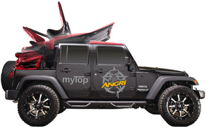 MyTop Power Soft-Top 'Fastback' Black 4dr for Wrangler JKU (Fully Fitted)