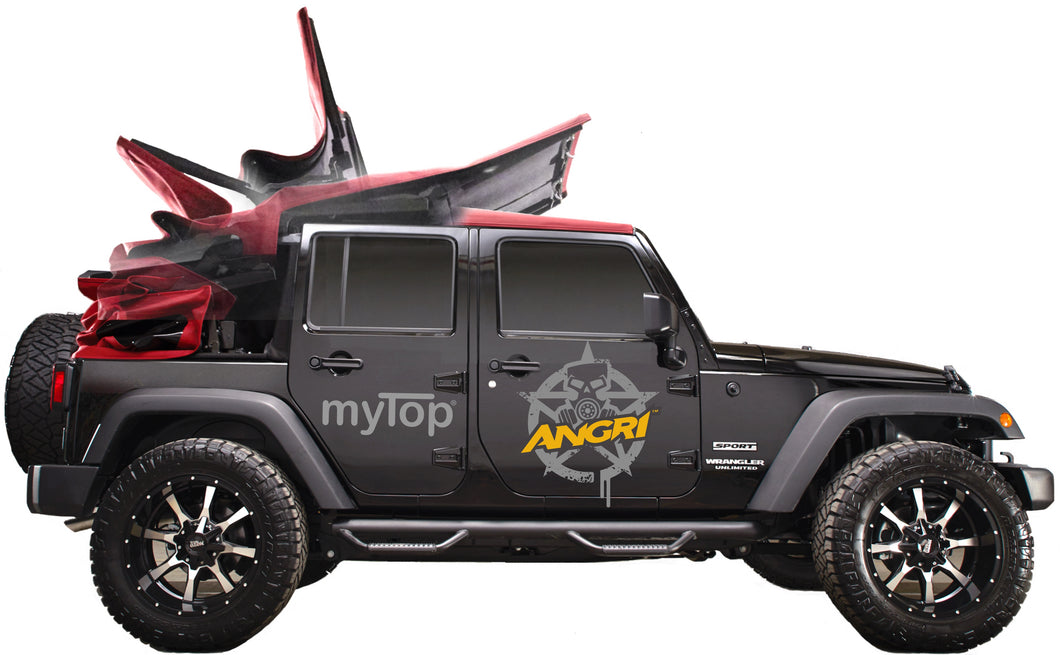 MyTop 8s Powered Soft-Top SQUARE-BACK BLACK 2dr JK (FULLY FITTED)