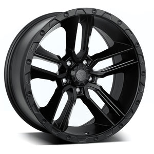 "AMERICAN OUTLAW 'Railcar' 20"" - Satin Black Rims (set of 5 Jeep 5x127)"