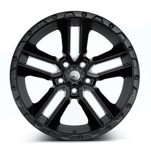 "Load image into Gallery viewer, AMERICAN OUTLAW 'Railcar' 20"" - Satin Black Rims (set of 5 Jeep 5x127)"