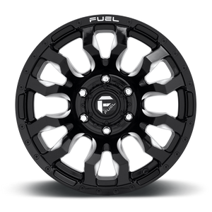 "FUEL OFFROAD 'BLITZ' 17"" D673 - Gloss Black Milled 17"" Rims (set of 5 Jeep 5/127) JK"