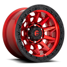 "Load image into Gallery viewer, FUEL OFFROAD 'Covert' D695 - Candy Red 17"" Rims (set of 5 Jeep 5x127)"