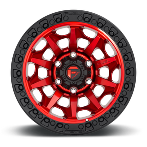 "FUEL OFFROAD 'Covert' D695 - Candy Red 17"" Rims (set of 5 Jeep 5x127)"