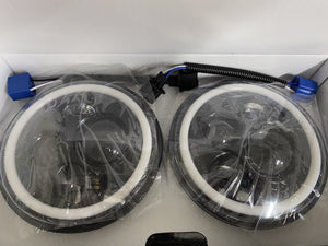 Headlights LED DRL Halo 'Clone' for JK/JKU/TJ (pair)