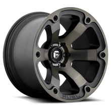 "Load image into Gallery viewer, FUEL OFFROAD 'Beast' 17"" D564 - Black/Dark 17/10 Rims (set of 5 Jeep 5x127 -18)"