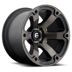"FUEL OFFROAD 'Beast' 20"" D564 - Black/Dark 20"" Rims (set of 5 Jeep 5x127)"