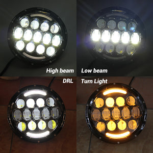 RGB 'SpidersEye' LED HEADLIGHTS with DRL & Remote for Wrangler JK/JKU/TJ (pair)