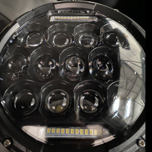 LED Headlights 'SpidersEye' with Positioning DRL, Clone for Wrangler JK/JKU/TJ (pair)
