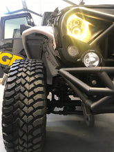 Load image into Gallery viewer, RGB 'App Controlled' HEADLIGHTS LED (DRL Halo) 'Clone' for JK/JKU/TJ (pair)