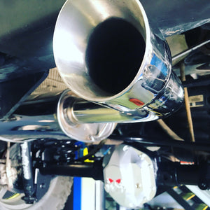 Free-Flow Stainless Steel Single Pipe Exhaust for JK/JKU (FULLY FITTED - CAPE TOWN ONLY)