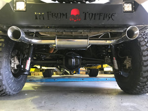 Free-Flow Stainless Steel Single Pipe Exhaust for JK/JKU (RETAIL BOX SELF-INSTALL)