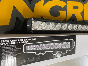 "20"" Light Bar - 120w Single Row CREE LED"