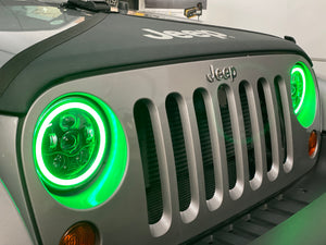RGB 'App Controlled' HEADLIGHTS LED (DRL Halo) 'Clone' for JK/JKU/TJ (pair)
