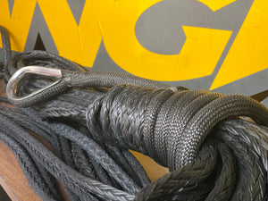 Synthetic ANGRi Winch Rope (BLACK) - HMPE 10T