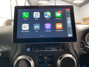 10.1″ MULTIMEDIA System for Jeep (INSTALLED + REVERSE CAM) with Apple CarPlay & Android Auto
