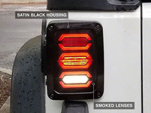Load image into Gallery viewer, TAIL LIGHTS - HEX SMOKED LED replacement for Wrangler JK/JKU (pair)