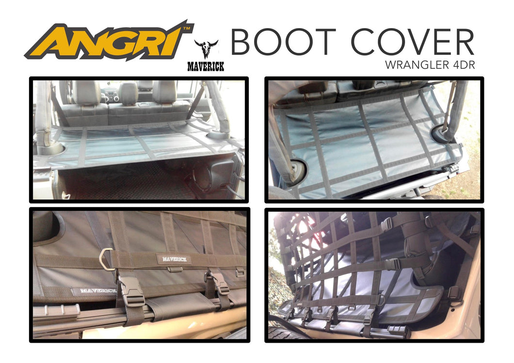 Boot / Luggage Area Tonneau Cover - by Maverick for Wrangler 4dr JKU