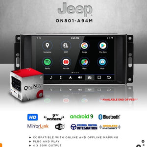 OneNAV for Jeep (RETAIL BOXED) - Upgraded 'Apple Car Play' Android 9 Head Unit