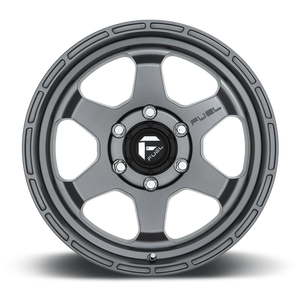 "FUEL OFFROAD 'Shok' 17"" D665 - Matt Anthracite 17"" Rims (set of 5 Jeep 5x127)"