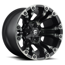 "Load image into Gallery viewer, FUEL OFFROAD 'Vapor' 17"" D569 - Black w/DDT 17"" Rims (set of 5 Jeep 5x127/114)"