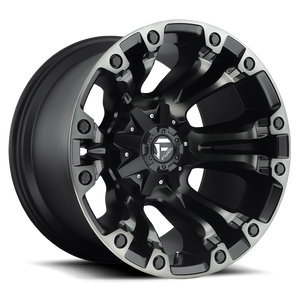 "FUEL OFFROAD 'Vapor' 17"" D569 - Black w/DDT 17"" Rims (set of 5 Jeep 5x127/114)"