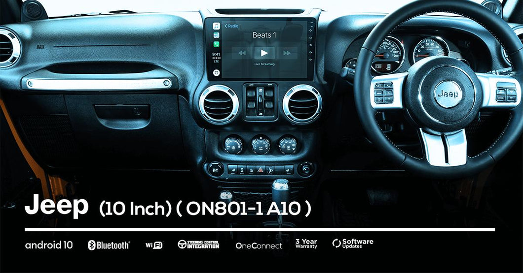OneNAV (NEW!) 10 inch for Jeep (FULLY INSTALLED) - 'Apple Car Play' Android 10 Head Unit