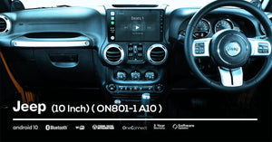 OneNAV (NEW!) 10 inch for Jeep (FULLY INSTALLED with REVERSE CAM) - 'Apple Car Play' Android 10 Head Unit