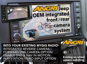 REVERSE Camera for Jeep MyGig OEM head Unit - ANGRiView (Wrangler JK/JKU)